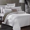 宾馆酒店布草 床上用品全棉酒店白色缎条宾馆四件套 厂家直销定制