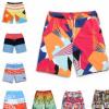 2018夏季新款欧美男式沙滩裤印花海边速干棉短裤外贸地摊货源批发