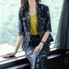 72420 2018套装女装新款欧美大牌抽象印花修身套装时尚精品两件套