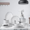 简约北欧风格碗碟套装家用餐具4人8人组合欧式陶瓷碗具盘子碗礼盒