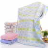 水晶兰纯棉六层纱布婴幼儿浴巾70*140宝宝儿童毛巾被新生儿抱被厂