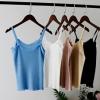 [比正]2018夏装新款 韩版百搭小波浪花边冰丝针织吊带背心8806