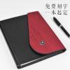 创意商务记事本定制仿木纹三折随身活页本a5笔记本日记本厂家批发