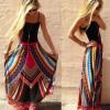 速卖通ebay热卖 欧美爆款印花半身长裙大摆裙 工厂货源