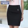 嘉伟利职业装西裙女正装OL通勤一步裙黑色半身裙修身显瘦包臀短裙