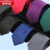 现货 纯色领带8cm 仿真丝素色商务正装男士领带涤纶丝 厂家批发