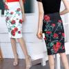 2018半身裙女装夏包臀短裙一步裙欧美数码印花亚马逊爆款一件代发