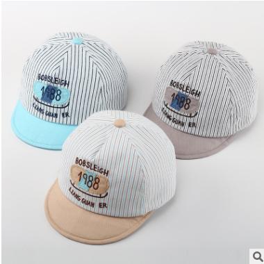 靓冠儿宝宝帽子春秋季男女童鸭舌棒球帽通婴儿遮阳帽