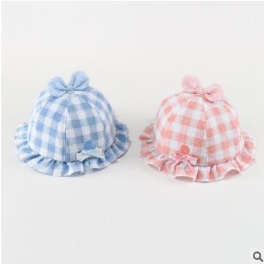 春秋宝宝帽子棉夏季遮阳帽男女童婴儿太阳帽渔夫盆帽