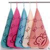 超细纤维小方巾 卡通印花25*25cm幼儿擦手挂巾 加厚吸水毛巾批发