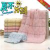 高阳毛巾厂家定制纯棉毛巾无捻布艺菱形块三色90g超强吸水特价