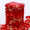 厂家批发新款毛巾婚庆喜庆红毛巾红色创意礼品面巾超强吸水毛巾