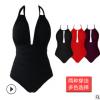 2018新款欧美多穿法连体泳衣 亚马逊爆款热销纯色泳装女厂家批发