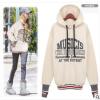 亚马逊 ebay 速卖通欧美女装新款宽松大码加绒加厚连帽卫衣外套