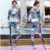 2018時尚印花运动瑜伽服女紧身健美透气潮流速干跑步瑜伽服套装