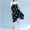 2018年夏新款文艺大码女装两穿波点吊带裤子宽松大摆裙子一件代发