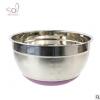 SIMPLYBAKEITSOL不锈钢打蛋盆硅胶底防滑手柄刻度沙拉盆碗烘培用