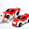 现货上链变形狗 储能自动变形玩具车 塑料发条变形恐龙玩具批发