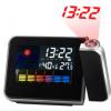 创意时尚彩屏LED电子时钟 气象天气预报投影钟贪睡闹钟促销价格