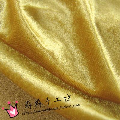 厂家直销驼金色光感柔软旗袍金丝绒 批发沙发椅子幕布金丝绒布料