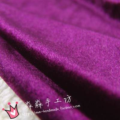 热销秋装服饰布料优质暗紫色弹力柔软金丝绒旗袍小背心沙发椅子