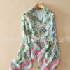 围巾工厂生产订制人棉印花围巾 冬季加长女士流苏围巾可来样订做