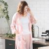 睡衣女士夏季日式薄款七分袖长裤莫代尔家居服春秋中长款睡袍套装