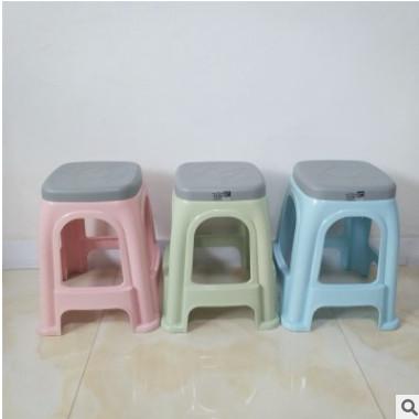 双鹰 大号双色凳子 加厚时尚高凳防滑凳餐桌塑料凳子