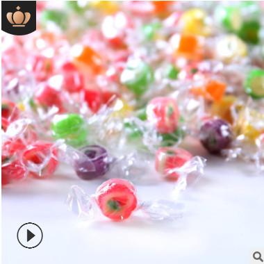 脱普MINI水果糖切片糖混合口味水果味手工韩国创意糖硬糖散装糖果