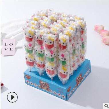 35g甜心乐园 串烧棉花糖 软糖 儿童休闲创意零食 棉花棒棒糖