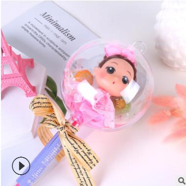 新款玩具零食 创意糖果卷发女孩玩具笔糖果 厂家批发商场零售