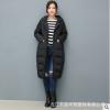 【道木熙】2018新款 韩版茧型长款过膝羽绒服女装 批发一件代发