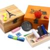 创意批发家用陪嫁实木针线盒创意针线套装收纳包装木盒