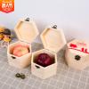 圣诞苹果木盒 长方形木盒子 平安果包装盒 圣诞包装木盒批发