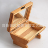 韩国创意家居木质首饰收纳盒 松木原色翻盖小收拾盒定做小木盒子