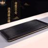 金边黑色电木茶盘台湾德国电胶木茶台茶海长方形简约家用茶船铜边
