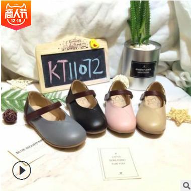 Kids Talk童鞋新款2018春秋新款韩版公主鞋女童鞋中大童单鞋现货