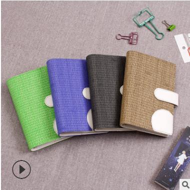 厂家直销创意小清新A6手帐本仿编织皮面日记手账本笔记本现货批发