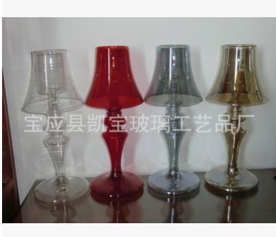 厂家厂价供应玻璃台灯烛台(图)可定制