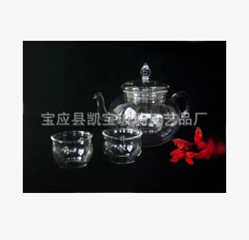 厂家定制供应玻璃茶具(图)