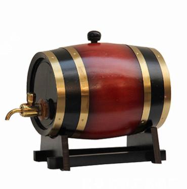 现货供应5L木制酒桶 橡木桶 松木红酒桶 木质酒桶 专业生产