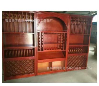 酒柜 客厅餐厅红酒柜展示陈列柜 木制家用酒柜隔断装饰摆件