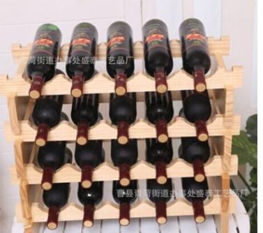 红酒架实木 创意置地葡萄酒架 多层酒瓶架展示架摆件 款式多多