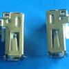 厂家供应90度卧式铁壳卷边无后盖直脚白胶USB母座