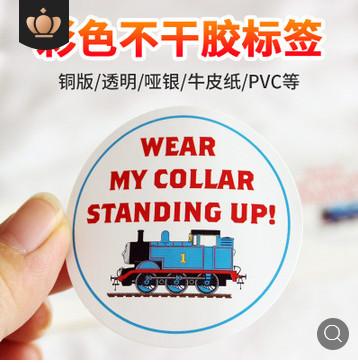 不干胶标签定做 彩色不干胶印刷透明PVC不干胶热敏纸标签定制logo