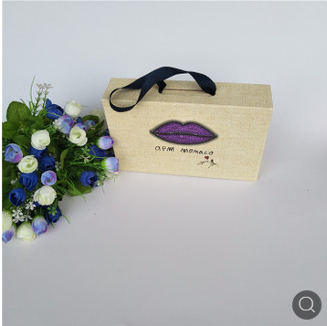 厂家直销化妆品包装盒手提印刷纸包装盒各类高档特种纸包盒可定制