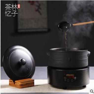 陶瓷煮茶器电陶炉套装养生黑茶蒸汽泡茶器日式干泡碗茶具