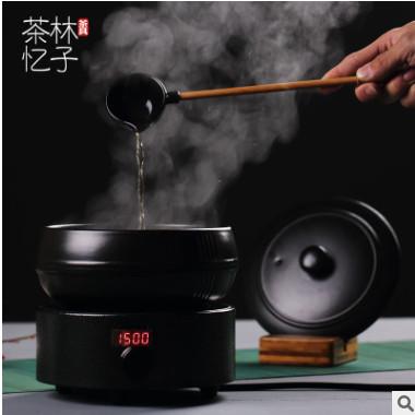 电陶炉陶瓷煮茶器套装黑茶带盖蒸茶器干泡碗养生家用分茶器温茶碗
