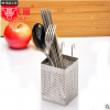 方形不锈钢筷子筒 挂式沥水筷筒筷笼架 创意厨房收纳盒餐具沥水架