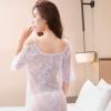 罗绮梦 情趣内衣 性感透视蕾丝露肩情趣睡衣睡裙套装L0207